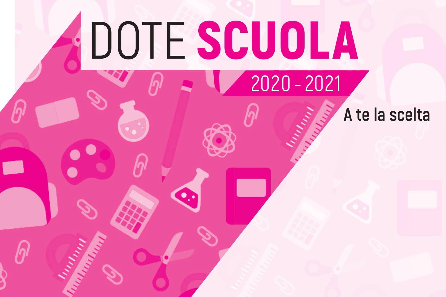 Dote scuola 2020-2021. E\' stata prorogata al 30 giugno la possibilità di effettuare la richiesta sul sito della Regione Lombardia