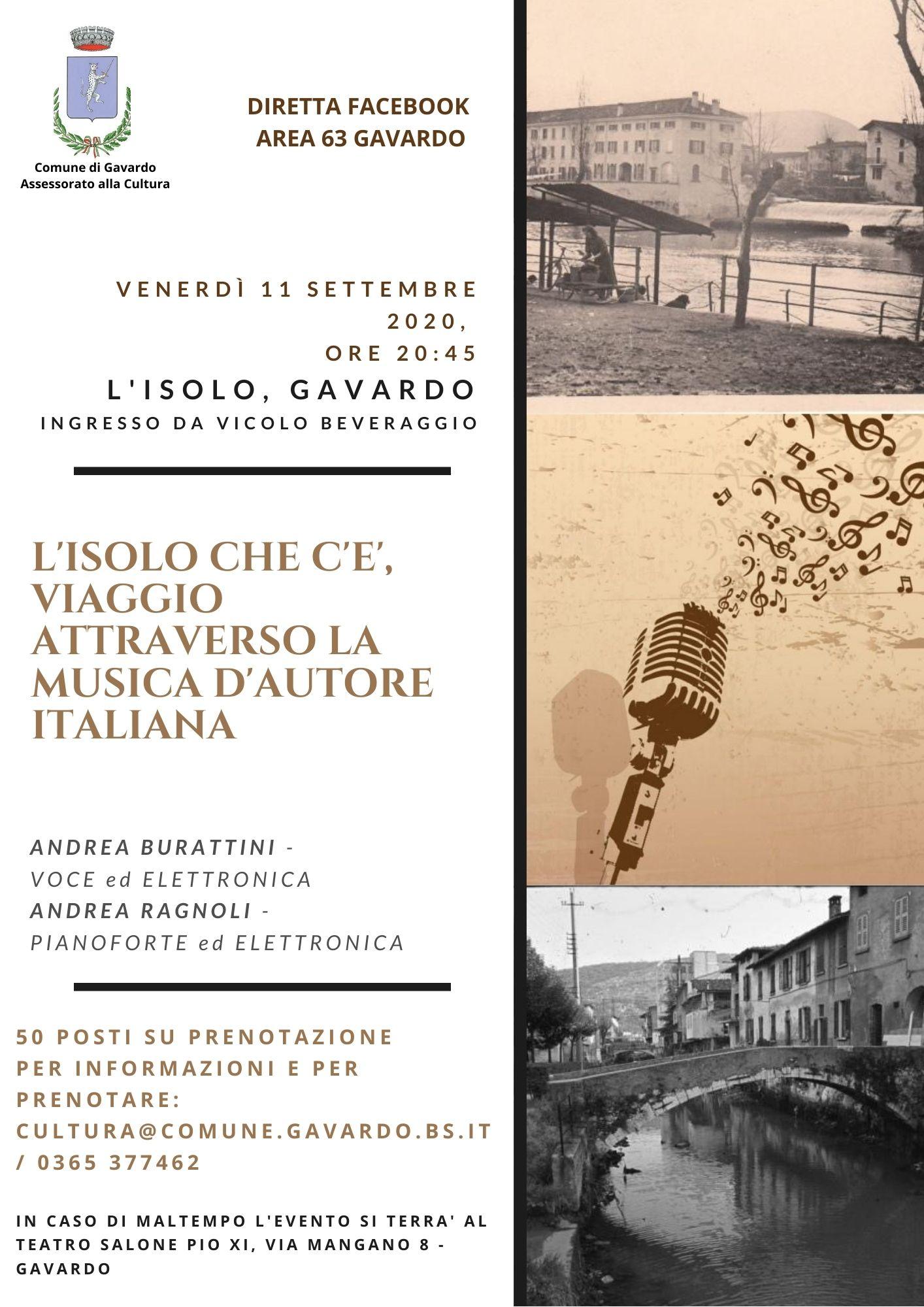 L'Isolo che c'è, viaggio attraverso la musica d'autore italiano