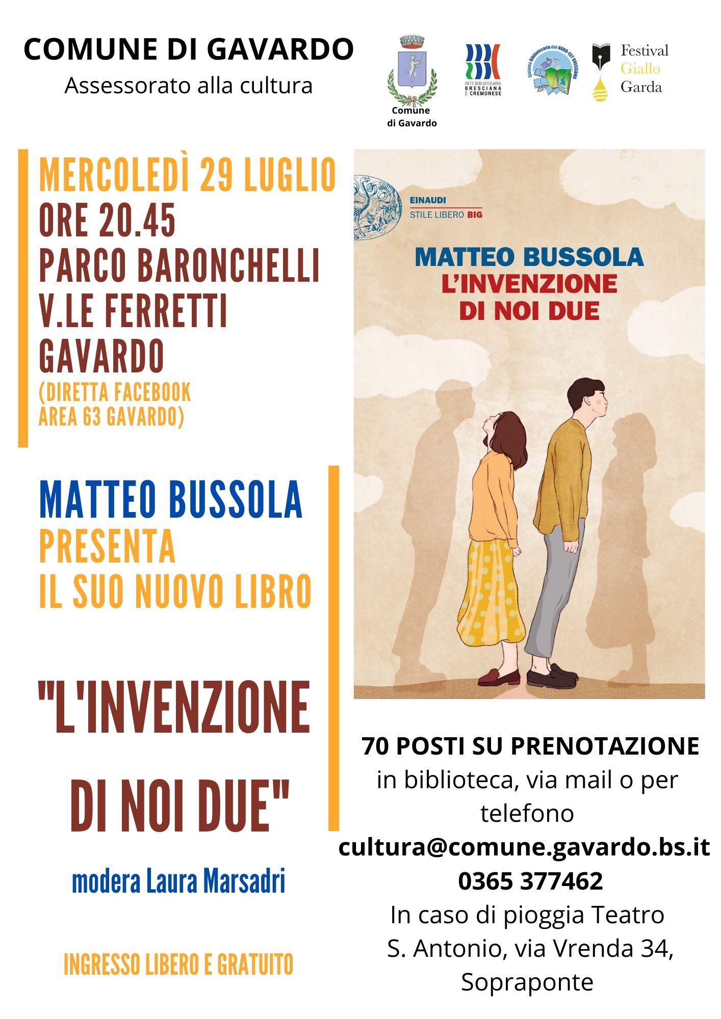 Incontro con l\'autore - Matteo Bussola presenta