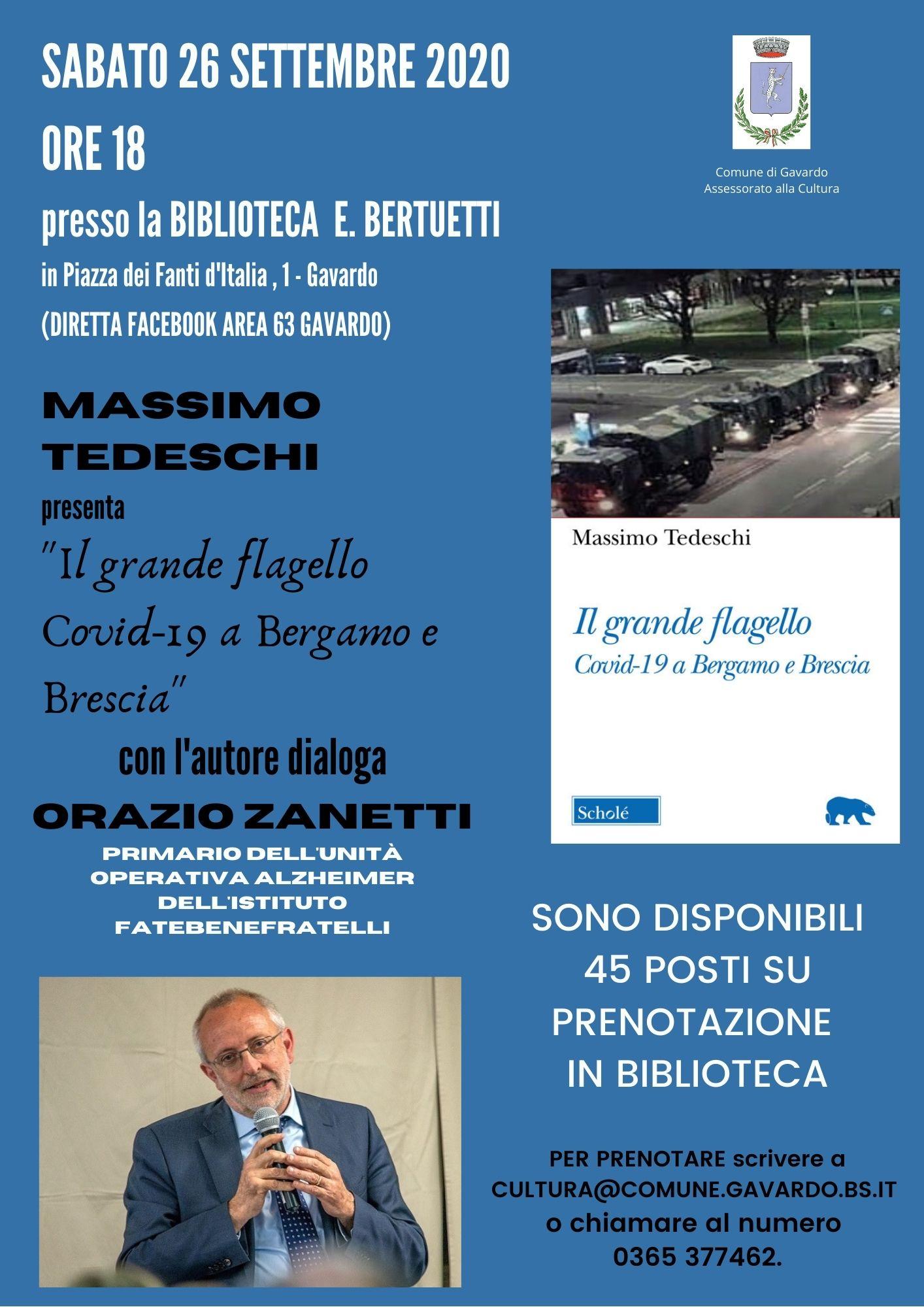 Massimo Tedeschi presenta il suo nuovo libro \