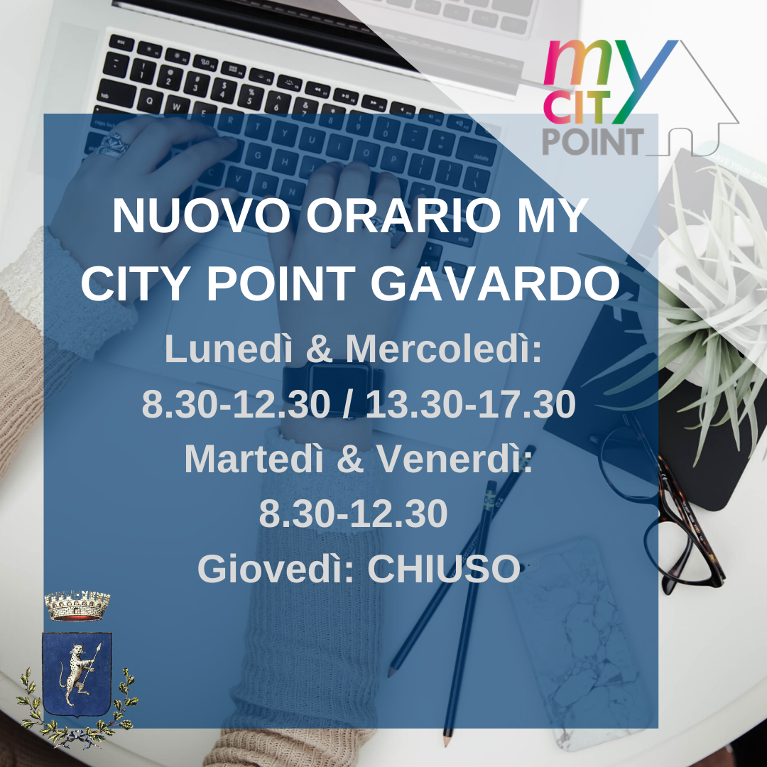 Nuovo Orario - Mycitypoint di Gavardo in Piazza dei Medici 27