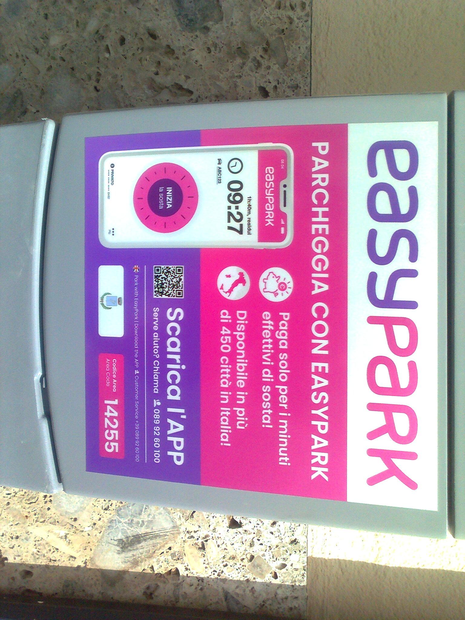 Pagamento della sosta - promozione per l\'uso dell\'applicazione EASYPARK riservata ai residenti nel Comune di Gavardo